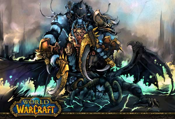 A picture from the computer game 'World of Warcraft.'