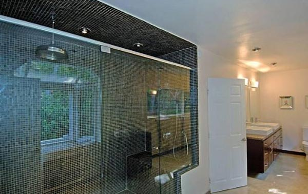 A bathroom inside Estella Warren's Beverly Hills...