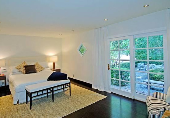 A bedroom inside Estella Warren's Beverly Hills...