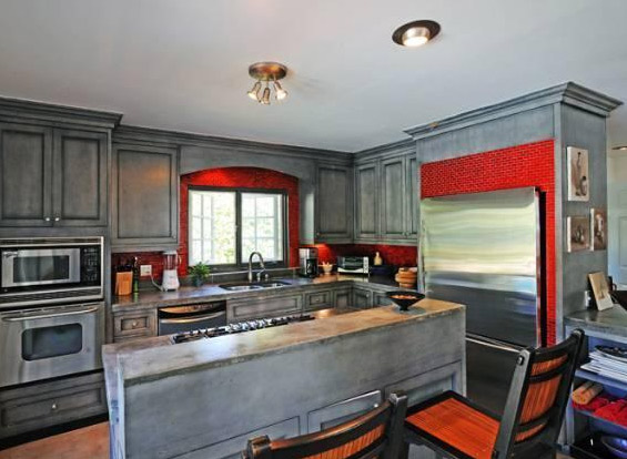 The kitchen inside Estella Warren's Beverly Hills home. The actress listed the property for sale in May 2011 for almost 1.4 million.