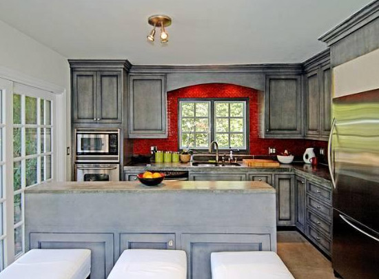 The kitchen inside Estella Warren's Beverly...