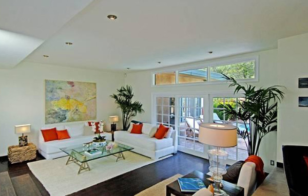 A room inside Estella Warren's Beverly Hills home. The actress listed the property for sale in May 2011 for almost 1.4 million.