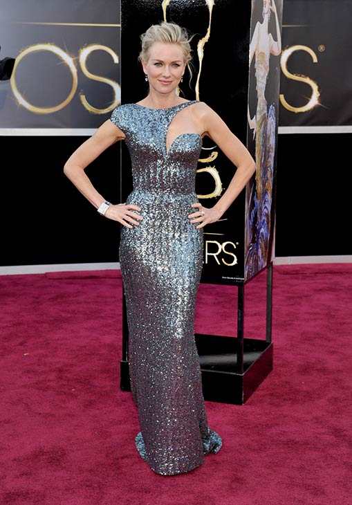 Naomi Watts arrives at the 2013 Oscars at the...