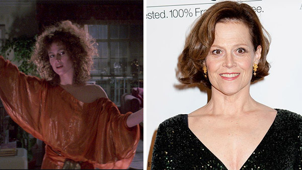 Sigourney Weaver appears as Dana Barrett in the 1984 film 'Ghostbusters.' / Sigourney Weaver appears at the 2013 American Theatre Ballet opening night gala in New York on Oct. 30, 2013.)