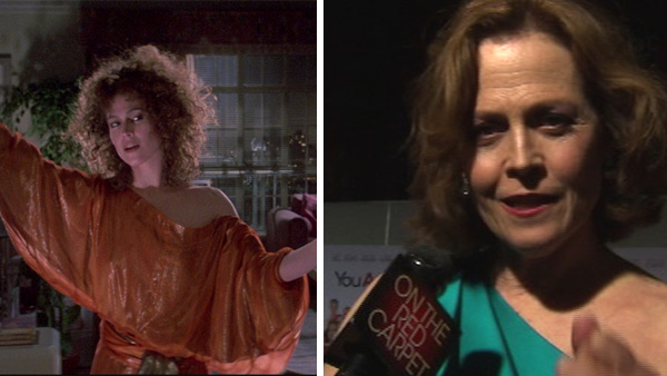 Sigourney Weaver appears as Dana Barrett in the 1984 film 'Ghostbusters.' / Sigourney Weaver speaks to OnTheRedCarpet.com at the Sept. 22, 2010 premiere of 'You Again' in Los Angeles.