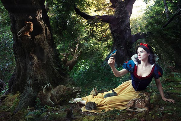 Rachel Weisz plays Snow White in Annie Leibowitz's Disney Dream Dream Portraits series.