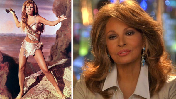 Raquel Welchh appears in scenes from the movie 'One Millions Years B.C.' in 1966 and CBS' 'CSI: Miami.' in 2012