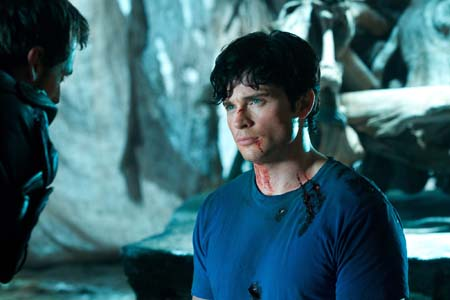 Callum Blue appears as Zod and Tom Welling as...