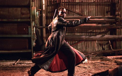 Wesley Snipe appears in a scene from the 2004 film 'Blade:Trinity.'