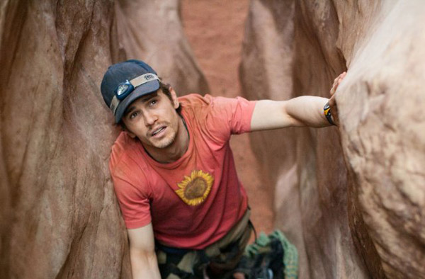 &#39;127 Hours&#39; is nominated for &#39;Best Adapted Screenplay,&#39; it was written by Danny Boyle &amp; Simon Beaufoy and was based on the book &#39;Between a Rock and a Hard Place&#39; by Aron Ralston. It was produced by Fox Searchlight. &#40;Pictured: James Franco in a still from &#39;127 Hours.&#39;&#41; <span class=meta>(Photo courtesy of Fox Searchlight)</span>