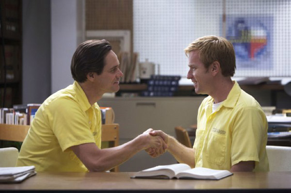 &#39;I Love You Phillip Morris&#39; is nominated for &#39;Best Adapted Screenplay,&#39; it was written by John Requa &amp; Glenn Ficarra and was based on the book by Steven McVicker. It was produced by Roadside Attractions. &#40;Pictured: Jim Carrey and Ewan McGregor in a still from &#39;I Love You Phillip Morris.&#39;&#41; <span class=meta>(Photo courtesy of Roadside Attractions)</span>