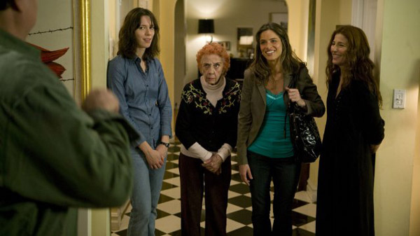 &#39;Please Give&#39; is nominated for &#39;Best Original Screenplay,&#39; it was written by Nicole Holofcener. It was produced by Sony Pictures Classics. &#40;Pictured: Rebecca Hall, Ann Morgan Guilbert, Amanda Peet and Catherine Keener in a still from &#39;Please Give.&#39;&#41; <span class=meta>(Photo courtesy of Sony Picture Classics)</span>