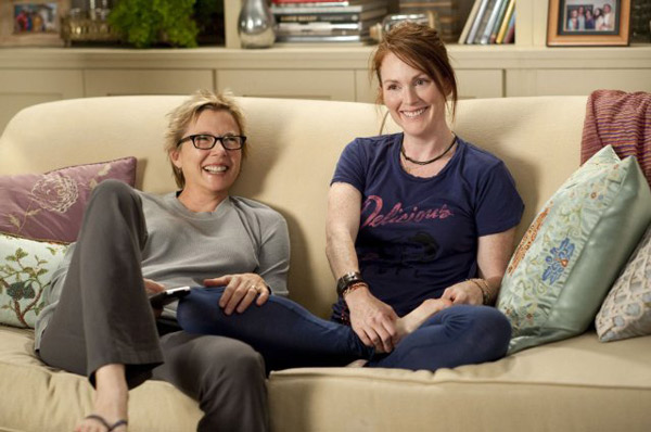 &#39;The Kids Are All Right&#39; is nominated for &#39;Best Original Screenplay,&#39; it was written by Lisa Cholodenko &amp; Stuart Blumberg. It was produced by Focus Features. &#40;Pictured: Annette Bening and Julianne Moore in a still from &#39;The Kids are All Right.&#39;&#41; <span class=meta>(Photo courtesy of Focus Features)</span>
