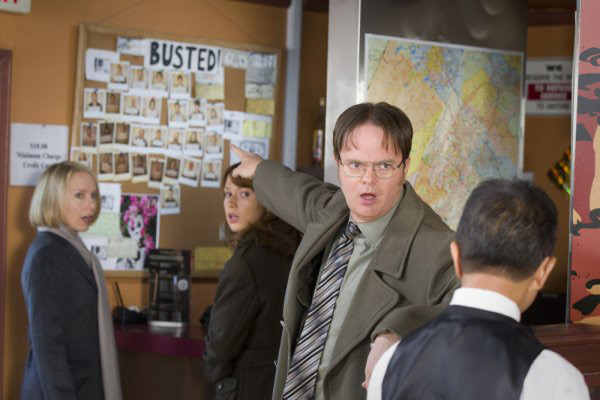 &#39;The Office&#39; is nominated for &#39;Best Comedy Television Series,&#39; it was written by Jennifer Celotta, Daniel Chun, Greg Daniels, Lee Eisenberg, Brent Forrester, Amelie Gillette, Charlie Grandy, Steve Hely, Jonathan A. Hughes, Mindy Kaling, Carrie Kemper, Jason Kessler, Paul Lieberstein, Warren Lieberstein, B.J. Novak, Peter Ocko, Robert Padnick, Aaron Shure, Justin Spitzer, Gene Stupnitsky, Halsted Sullivan and Jon Vitti. It was produced by NBC. &#40;Pictured: Rainn Wilson in a still from &#39;The Office.&#39;&#41; <span class=meta>(Photo courtesy of NBC)</span>