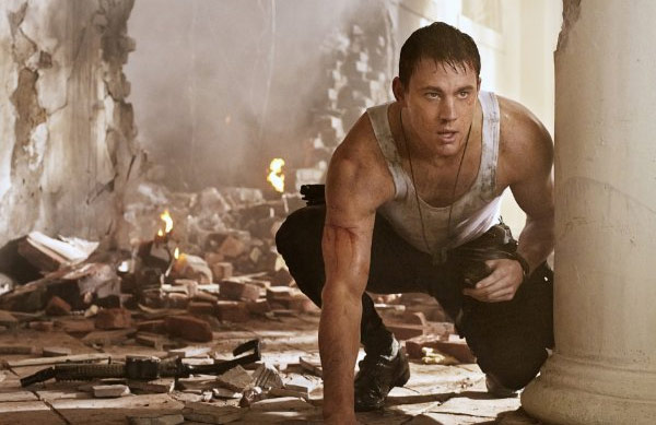 "<div class=""meta ""><span class=""caption-text "">Channing Tatum appears in a scene from his 2013 action film, 'White House Down,' which also stars Jamie Foxx and Maggie Gyllenhaal. (Columbia Pictures)</span></div>"