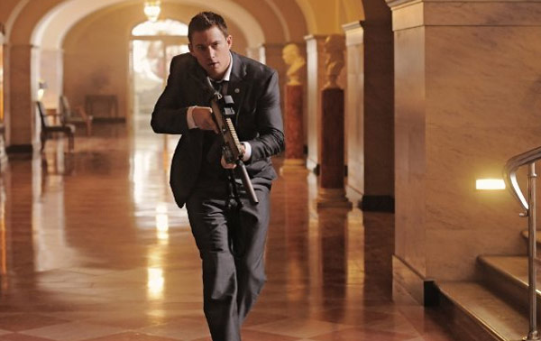 Channing Tatum appears in a scene from his 2013 action film, &#39;White House Down,&#39; which also stars Jamie Foxx and Maggie Gyllenhaal. <span class=meta>(Columbia Pictures)</span>