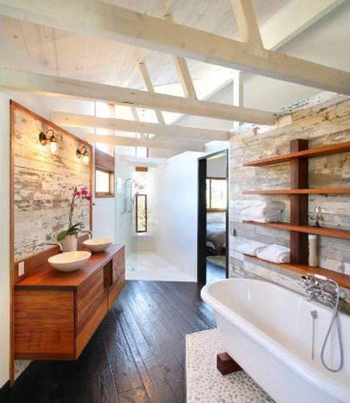 One of the three bathrooms in Olivia Wilde's 3-bedroom Venice beach house, which is on the market for $3 million.