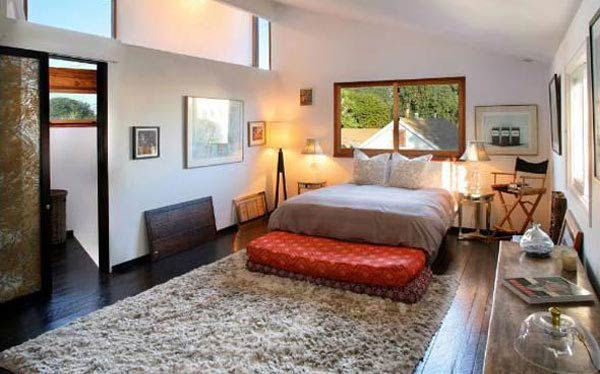 One of the three bedrooms in Olivia Wilde's...