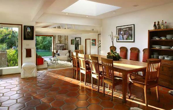The dining room at Olivia Wilde's Venice beach...
