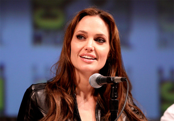 Angelina Jolie appears in a photo from Comic-Con 2010, held in San Diego, California.