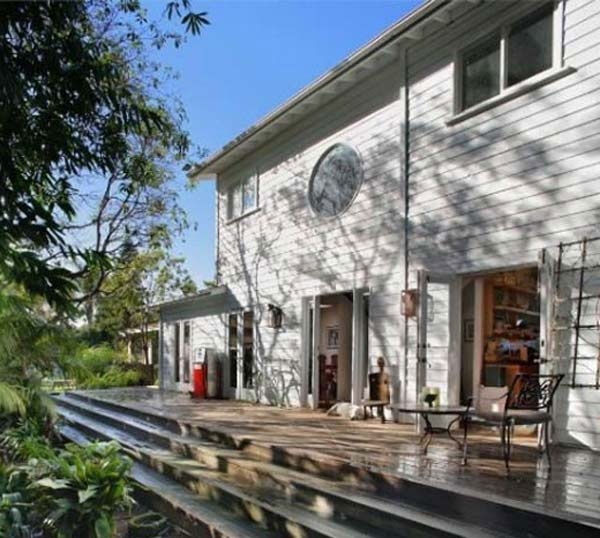 A view of the porch on Olivia Wilde's 3-bedroom...