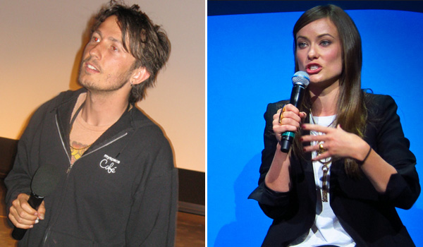 Tao Ruspoli appears in a photo from the Marfa Film Festival for his film 'Fix.' / Olivia Wilde appears on the show 'The Insider,' as seen in this fan photo.