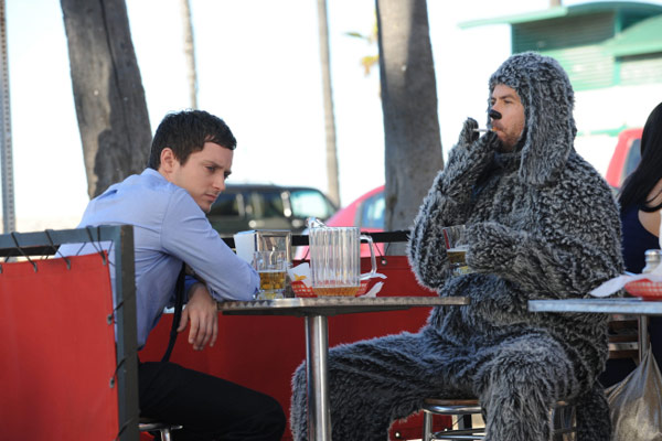 Elijah Wood as Ryan and Jason Gann as Wilfred in a scene from the 2011 FX series &#39;Wilfred.&#39; <span class=meta>(FX)</span>