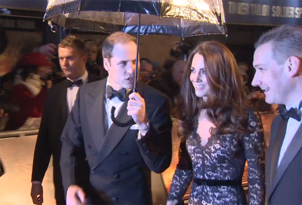 Kate, Duchess of Cambridge, appears at the UK premiere of 'War Horse' in London on Sunday, Jan. 8, 2012.