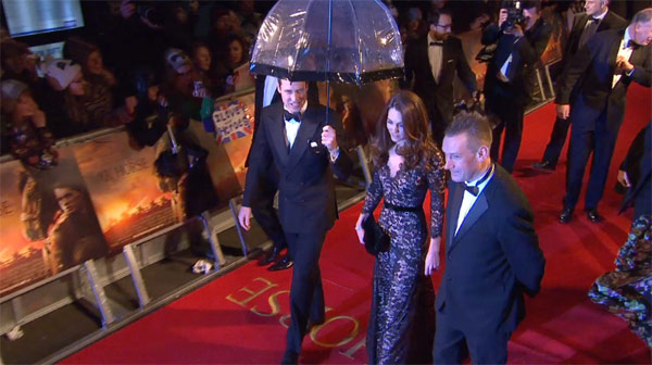 The Duke and Duchess of Cambridge arrive for the UK Premiere of 'War Horse' in aid of The Foundation of Prince William and Prince Harry, at a central London cinema on Sunday, Jan. 8, 2012.