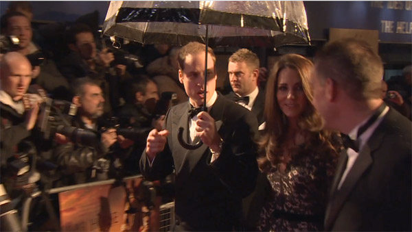 The Duke and Duchess of Cambridge arrive for the UK Premiere of &#39;War Horse&#39; in aid of The Foundation of Prince William and Prince Harry, at a central London cinema on Sunday, Jan. 8, 2012. <span class=meta>(DreamWorks SKG)</span>