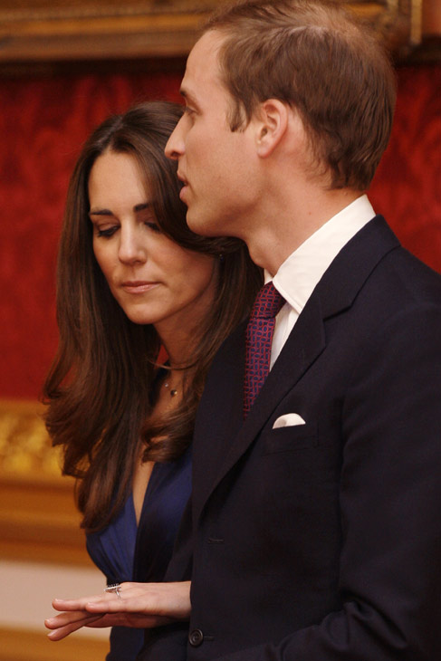 In this Nov. 16, 2010 file photo, Britain's Prince William and his fiance Kate Middleton are seen at St. James's Palace in London, after they announced their engagement.6
