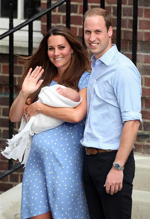 The time the world awwwed when Prince William and Kate introduced their newborn son, Prince George, the Royal Baby and third heir to the British throne, to the press outside of St. Mary&#39;s Hospital in London on July 23, 2013. <span class=meta>(Ruaridh Connellan &#47; Startraksphoto.com)</span>