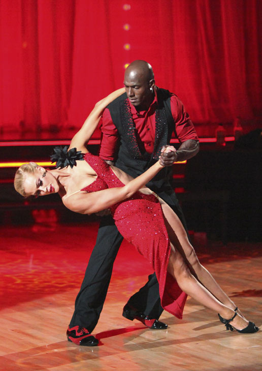 Football star Donald Driver and his partner Peta...