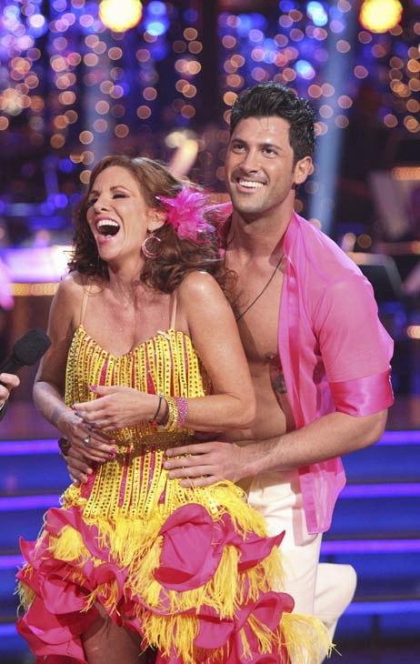 "<div class=""meta ""><span class=""caption-text "">Melissa Gilbert, a former child star who played Laura on 'Little House on the Prairie,' and her partner Maksim Chmerkovskiy received 21 out of 30 points from the judges for their Salsa on week five of 'Dancing With The Stars.' (ABC)</span></div>"
