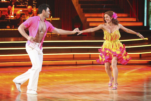 Melissa Gilbert, a former child star who played Laura on 'Little House on the Prairie,' and her partner Maksim Chmerkovskiy received 21 out of 30 points from the judges for their Salsa on week five of 'Dancing With The Stars.'
