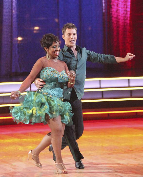 "<div class=""meta ""><span class=""caption-text "">R&B legend Gladys Knight and her partner Tristan MacManus received 22 out of 30 points from the judges for their Samba on week five of 'Dancing With The Stars,' which aired on April 16, 2012. (ABC)</span></div>"