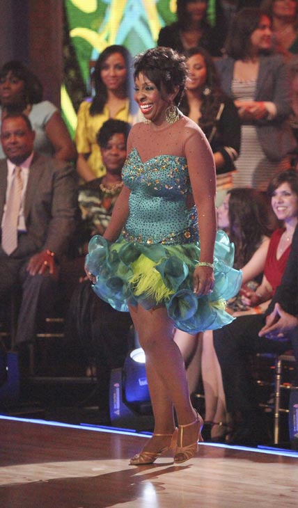 R&B legend Gladys Knight and her partner Tristan MacManus received 22 out of 30 points from the judges for their Samba on week five of 'Dancing With The Stars,' which aired on April 16, 2012.