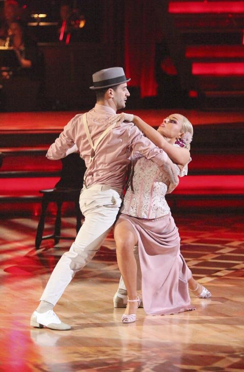 "<div class=""meta image-caption""><div class=""origin-logo origin-image ""><span></span></div><span class=""caption-text"">Classical singer Katherine Jenkins and her partner Mark Ballas received 29 out of 30 points from the judges for their Argentine Tango on week five of 'Dancing With The Stars,' which aired on April 16, 2012.  (ABC)</span></div>"