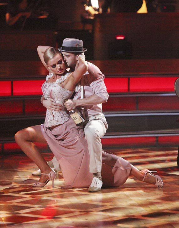"<div class=""meta ""><span class=""caption-text "">Classical singer Katherine Jenkins and her partner Mark Ballas received 29 out of 30 points from the judges for their Argentine Tango on week five of 'Dancing With The Stars,' which aired on April 16, 2012.  (ABC)</span></div>"