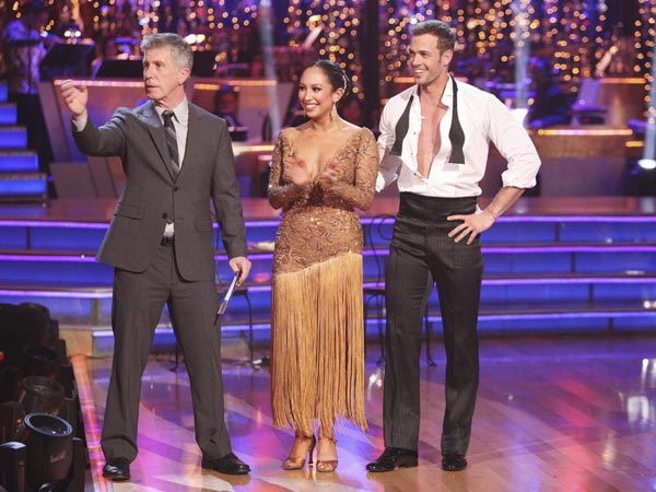 Telenovela star William Levy and his partner Cheryl Burke received 29 out of 30 points from the judges for their Argentine Tango on week five of 'Dancing With The Stars,' which aired on April 16, 2012.