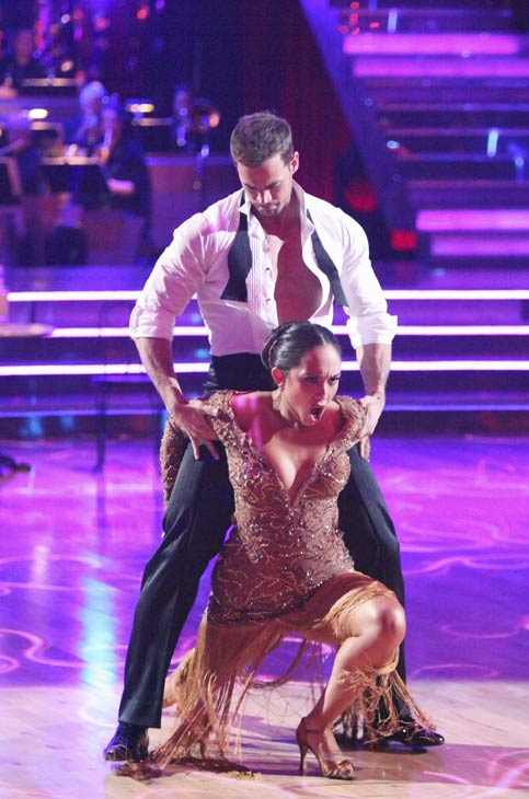 "<div class=""meta image-caption""><div class=""origin-logo origin-image ""><span></span></div><span class=""caption-text"">Telenovela star William Levy and his partner Cheryl Burke received 29 out of 30 points from the judges for their Argentine Tango on week five of 'Dancing With The Stars,' which aired on April 16, 2012. (ABC)</span></div>"