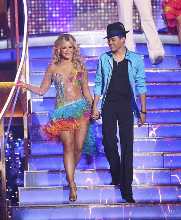 Disney Channel star Roshon Fegan and his partner Chelsie Hightower received 26 out of 30 points from the judges for their Salsa on week five of &#39;Dancing With The Stars,&#39; which aired on April 16, 2012. <span class=meta>(ABC)</span>