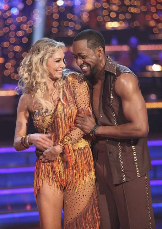 "<div class=""meta image-caption""><div class=""origin-logo origin-image ""><span></span></div><span class=""caption-text"">Jaleel White, who played Steve Urkel on 'Family Matters,' and his partner Kym Johnson received 24 out of 30 points from the judges for their Salsa on week five of 'Dancing With The Stars,' which aired on April 16, 2012.  (ABC)</span></div>"