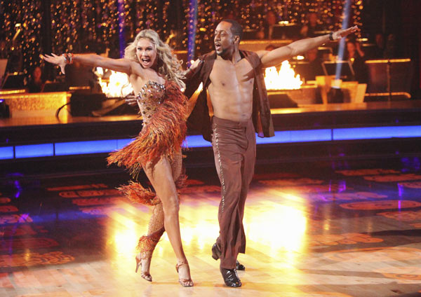 Jaleel White, who played Steve Urkel on &#39;Family Matters,&#39; and his partner Kym Johnson received 24 out of 30 points from the judges for their Salsa on week five of &#39;Dancing With The Stars,&#39; which aired on April 16, 2012.  <span class=meta>(ABC)</span>