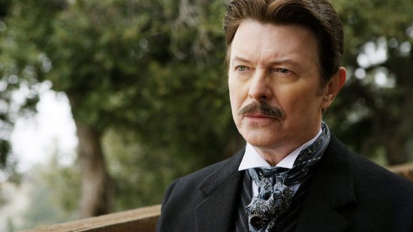David Bowie appears in a scene from the 2006 film 'The Prestige.'