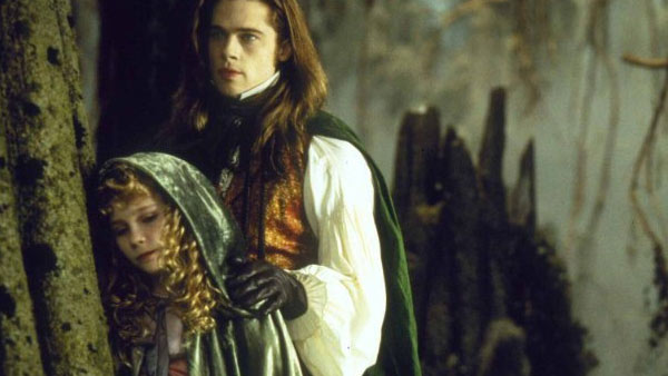 Kirsten Dunst appears in a scene from the 1994 film 'Interview with the Vampire: The Vampire Chronicles' alongside Brad Pitt.