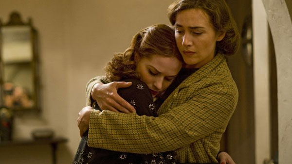 Evan Rachel Wood appears in a scene from the 2011 HBO TV mini-series 'Mildred Pierce' aloingside Kate Winslet.