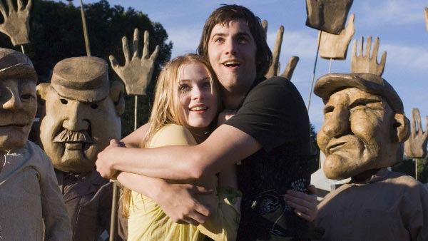 Evan Rachel Wood appears alongside Jim Sturgess in the 2007 film 'Across the Universe.'