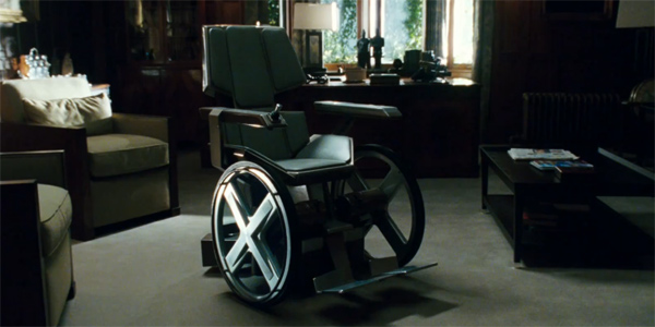 Professor Charles Xavier's wheelchair appears in a scene from 'X-Men: First Class.'