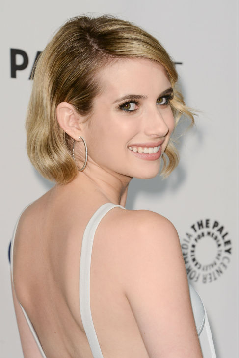 Emma Roberts appears at a PaleyFest event celebrating the FX series &#39;American Horror Story: Coven,&#39; presented by the Paley Center for Media, at the Dolby Theatre in Hollywood, California on March 28, 2014. She is wearing a chiffon Finders Keepers dress.  <span class=meta>(Rob Latour for Paley Center for Media)</span>